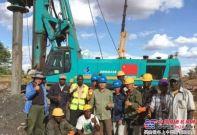 山河智能旋挖鉆機助力東非鐵路建設