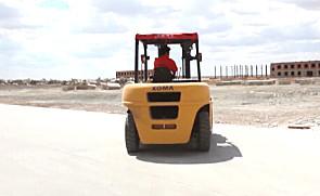 厦工叉车在新疆富蕴欧洛石业作业纪实