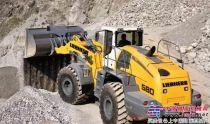 利勃海尔装载机L580应用于安徽采石场