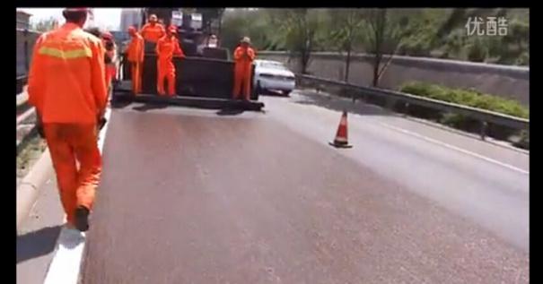 VSS稀浆封层车施工视频