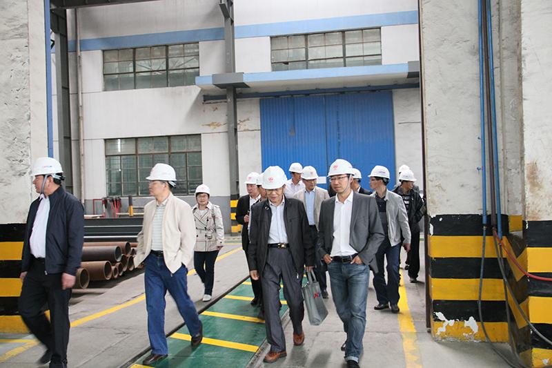 中国工程机械工业协会筑路机械分会名誉会长姬光才和安迈工程设备(上海)有限公司张立光总经理正在交流