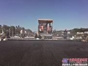 中联重科SUPER130A摊铺机助力长沙芙蓉北路项目建设