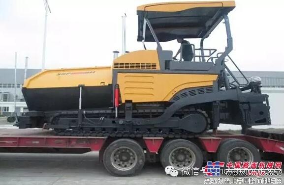 开门红 山推SRP95M多功能摊铺机销往海外