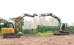 挖掘机跳小苹果