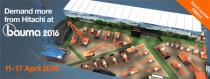 日立建机(欧洲) 超过40台新机械将闪亮 Bauma Munich 2016