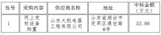 中国共产党烟台市委员会党校网上党校设备购置中标公告2016-05-13