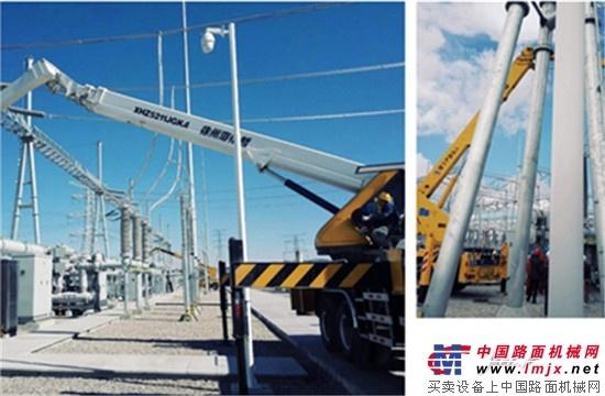 海伦哲45米、33米高空车助力山西变电站线路检修