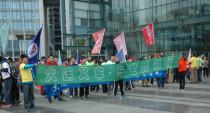 大连叉车员工参加第十四届大连国际徒步大会