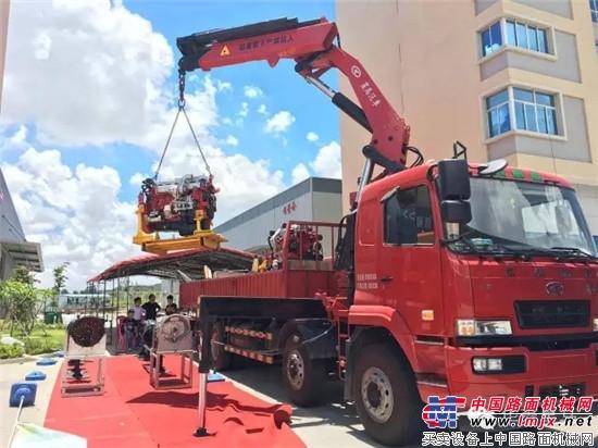 华菱大篷车巡展助力功臣——随车起重运输车 南海是中国的 华菱