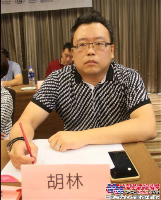 中交西安筑路机械有限公司总经理助理、营销总监胡林