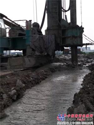 防渗加固 致富利器——山河智能三轴连续墙钻机