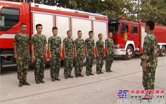 恒特重工进行消防安全预案联合演练 恒特重工-中国-东盟博览会