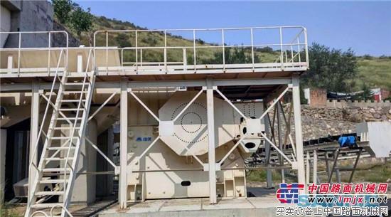 洛阳地区现代化的骨料生产线投入运营 山美移动破碎站环保理念于