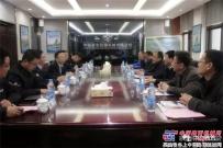 杨向阳董事长会见陕西建设机械杨宏军董事长一行