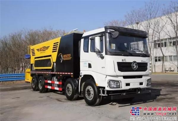 施工稳定,安全高效-HGY5312TFCCSF纤维稀浆封层车