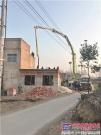 中联重科首台40米4.0混凝土泵车安徽施工 助力新城镇建设