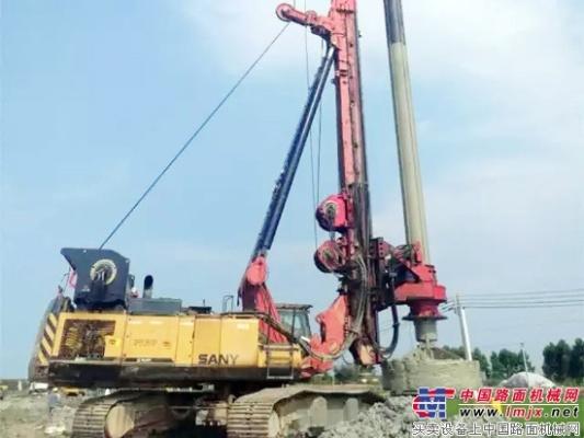 三一SR420创造中国旋挖施工最深记录
