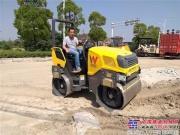 威克诺森RD27压路机助力扬州道路建设