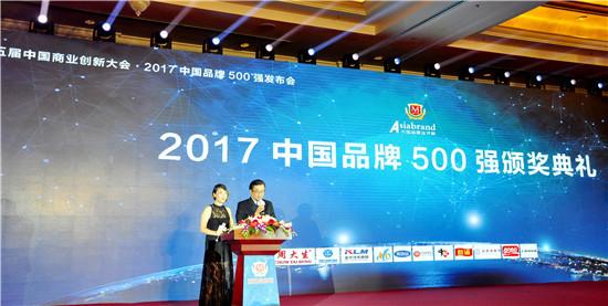 第五届中国商业创新大会暨2017中国品牌500强发布会在京召开