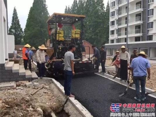 """""""只为小巧灵活代言""""——三一SAP60C-6摊铺机安徽滁州显身手"""