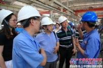 西安市人社局机关党支部来陕建机股份调研