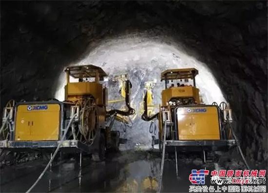 神勇,掘进1450米,徐工TZ系列凿岩台车奋战大盘山隧道