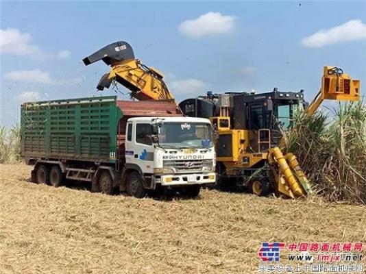柳工甘蔗收获机挺进柬埔寨市场 再获一笔出口大单!