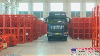 方圆施工升降机再次出口马来西亚