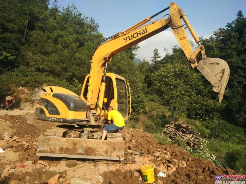 施工中的玉柴小挖