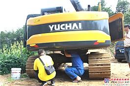 耐心细致检查挖机部件