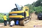 这是一台新提机的玉柴小挖
