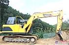 玉柴挖机在大别山深处作业