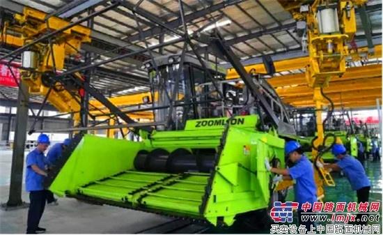 中联重科高端农业装备制造基地落成投产 首批青贮收获机下线