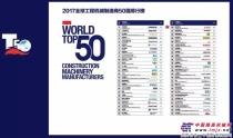 2017年工程机械行业50强排行榜揭晓,威克诺森继续上榜