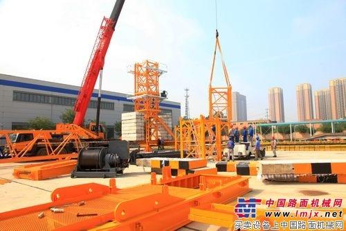 陕建机紧锣密鼓组织新产品STC7528智能化塔机发布会