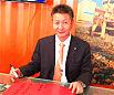 柳工股份总裁黄海波祝贺路面机械网十五周年