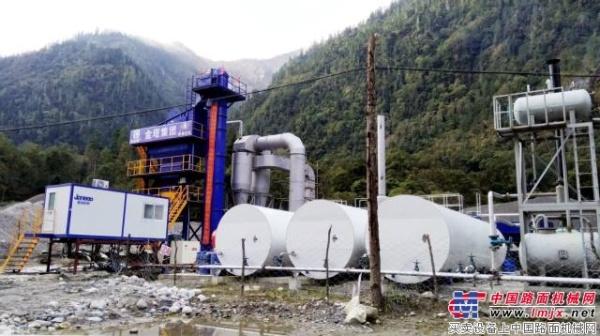 山推JLB1500型沥青设备进驻西藏林芝