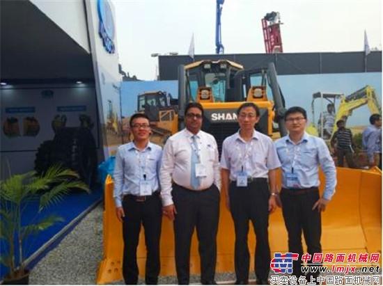 山推全液压推土机亮相印度EXCON国际展会