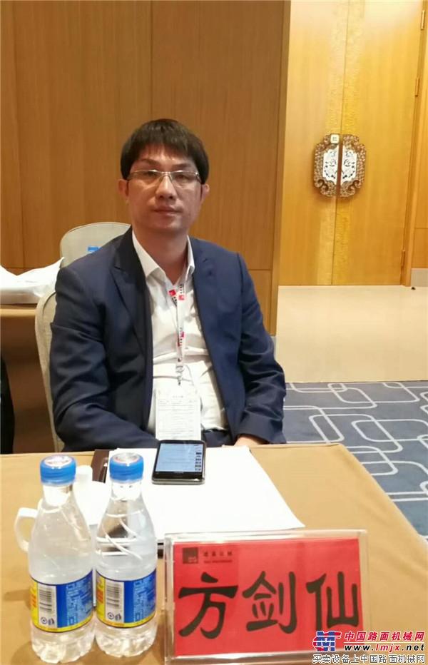 中国工程机械工业协会筑路机械分会副秘书长方剑仙