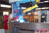 恒特重工首台焊接机器人安装完成
