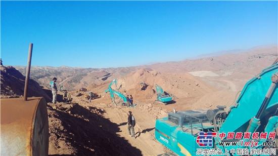 伊朗客户点赞山河智能全系列液压挖掘机 新年开门红!山河智能5