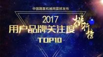 2017年【工程起重机】品牌关注度排行榜发布