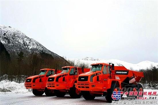 斗山工程机械在挪威承揽铰接式自卸卡车20辆订单