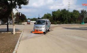 同辉汽车高压清洗车路面清洗作业