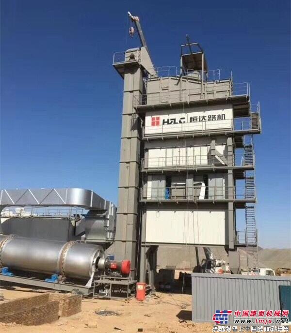 品质赢得信赖!恒达路机5000型沥青搅拌站强势入驻内蒙古