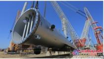 中联重科ZCC3200NP履带起重机成功助力大连恒力石化项目首吊