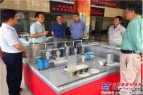 中国港湾机电装备分公司总经理张军清一行到中交西筑考察