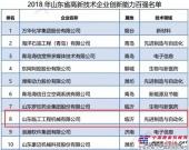 """山东临工位居""""山东省首批高新技术企业创新能力百强""""前十"""