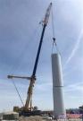 徐工QYA1200全地面起重机唐山南堡风电场风电吊装作业
