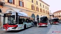 比亚迪纯电动大巴征服意大利历史名城